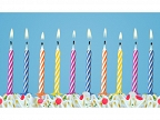 Birthday candles for cakes
