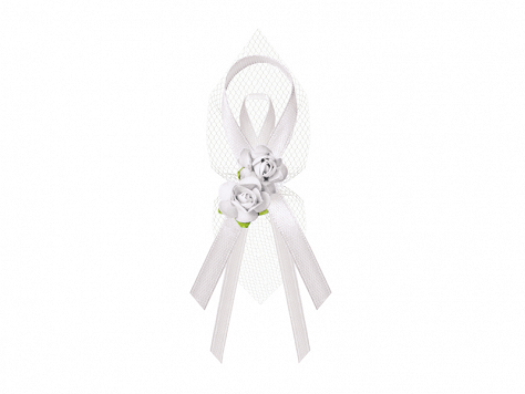 Label ribbons and corsages