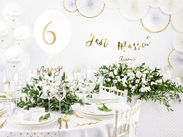 White & Gold Wedding Collection