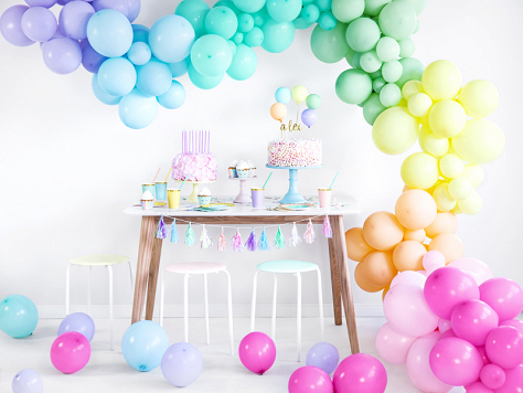 Pastel Balloon Garland Collection
