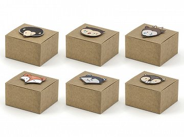 Woodland boxes, mix, 6x5.5x3.5cm (1 pkt / 6 pc.)