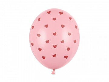 Balloons 30 cm, Hearts, Pastel Baby Pink (1 pkt / 50 pc.)