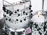 Pearl garlands, black, 1.3m (1 pkt / 5 pc.)