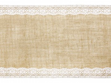 Burlap table runner, 0.28x2.75m (1 ctn / 24 pc.)