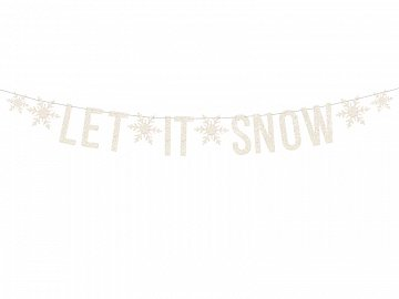 Banner Let it snow, white, 13x170cm