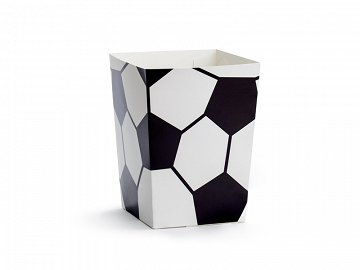 Boxes for popcorn Football, mix, 7x7x12cm (1 pkt / 6 pc.)