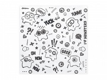 Napkins Monsters, 33x33cm  (1 pkt / 20 pc.)