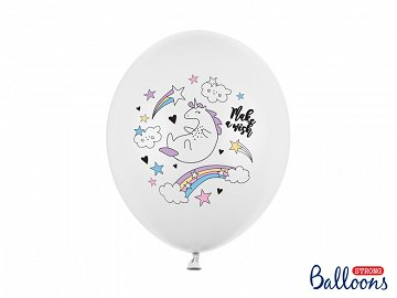 Balloons 30cm, Unicorn, Pastel Pure White (1 pkt / 6 pc.)