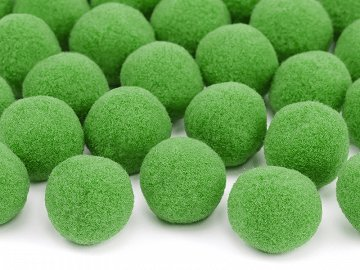 Plush pompoms, light green (1 pkt / 20 pc.)