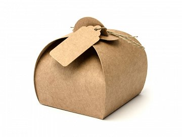 Boxes with tags, 6x6x5.5cm (1 ctn / 50 pkt) (1 pkt / 10 pc.)