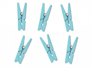 Wooden Pegs, light sky-blue (1 pkt / 10 pc.)