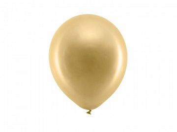 Rainbow Balloons 23cm metallic, gold (1 pkt / 100 pc.)