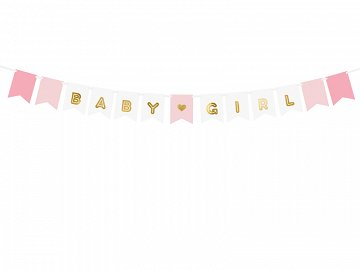 Banner Baby Girl, mix, 15 x 175 cm