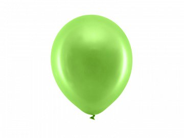 Rainbow Balloons 23cm matellic, light green (1 pkt / 100 pc.)
