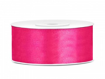 Satin Ribbon, dark pink, 25mm/25m (1 pc. / 25 lm)
