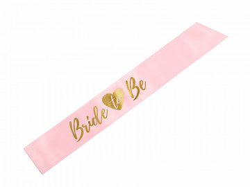 Sash Bride to be, light pink, 75cm