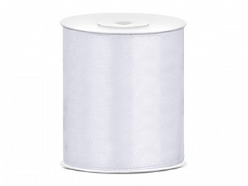 Satin Ribbon, white, 100mm/25m (1 pc. / 25 lm)