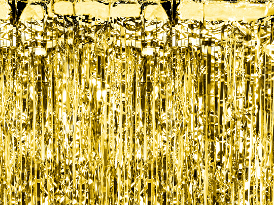 Party curtain, gold, 0.9 x 2.5m