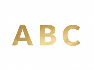 Banner Alphabet, gold, 14cm (1 pkt / 63 pc.)