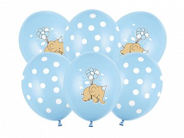 Balloons 30cm, Elephant, Pastel Baby Blue Mix (1 pkt / 50 pc.)