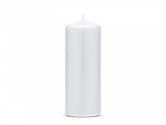 Pillar Candle, matt, white, 15 x 6cm (1 pkt / 6 pc.)