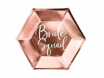 Plates Bride squad, rose gold, 23cm (1 pkt / 6 pc.)