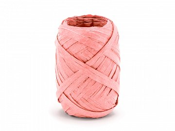 Raffia ribbon, 5mm/10m, peach (1 ctn / 80 pc.)