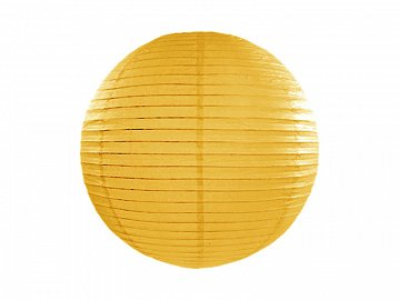 Paper lantern, dark yellow, 20cm