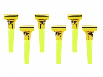 Whistles, gold (1 pkt / 6 pc.)