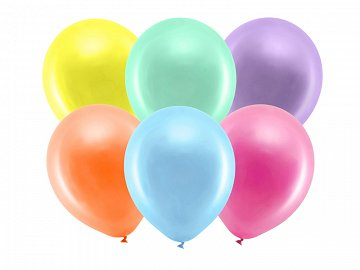 Rainbow Balloons 30cm metallic, mix (1 pkt / 100 pc.)