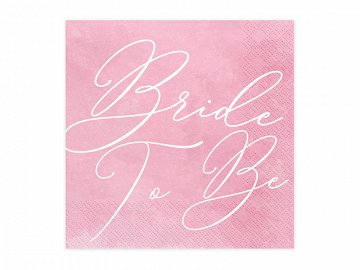 Napkins Bride to be, 33x33cm  (1 pkt / 20 pc.)