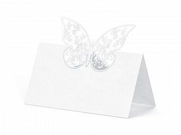 Place Cards Butterfly, 9 x 7.3cm (1 ctn / 50 pkt) (1 pkt / 10 pc.)