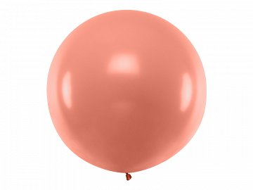 Round Balloon 1m, metallic Rose Gold