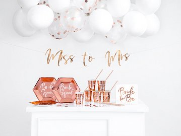 Party decorations set - Bachelorette party, rose gold (1 pkt / 44 pc.)