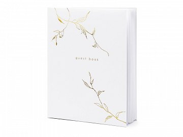 Guest Book, 20x24.5cm, white, 22 pages