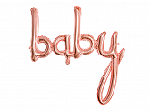 Foil balloon Baby, rose gold, 73.5x75.5cm