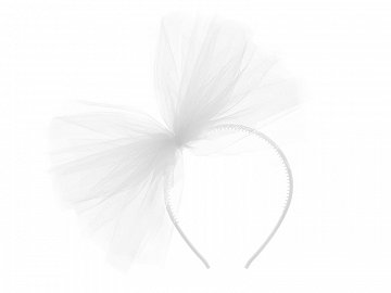 Tulle headband, white