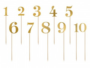 Table numbers, gold, 25.5-26.5cm (1 pkt / 11 pc.)