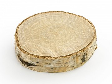 Wooden place cards, diameter 4.5-6.5cm (1 pkt / 20 pc.)