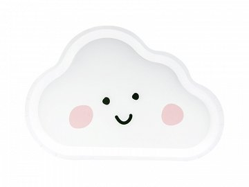 Plates Cloud, white, 26x17cm (1 pkt / 6 pc.)