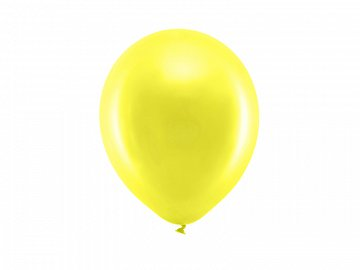 Rainbow Balloons 23cm metallic, yellow (1 pkt / 100 pc.)