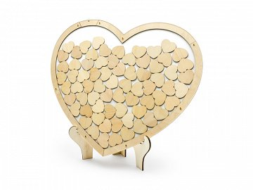 Wooden guest book - Heart, 44x37.5cm