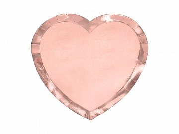 Plates Heart, rose gold, 21x19cm (1 pkt / 6 pc.)