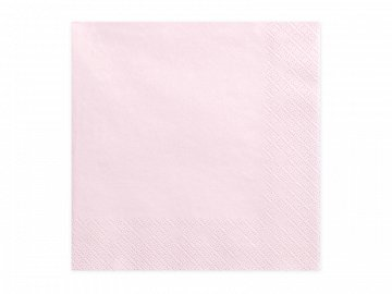 Napkins, 3 layers, light powder pink, 33x33cm (1 pkt / 20 pc.)