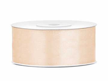 Satin Ribbon, cream, 25mm/25m (1 pc. / 25 lm)