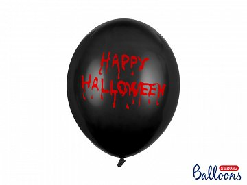 Balony 30cm, Happy Halloween, Pastel Black (1 op. / 6 szt.)