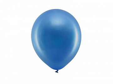 Rainbow Balloons 23cm metallic, navy blue (1 pkt / 100 pc.)