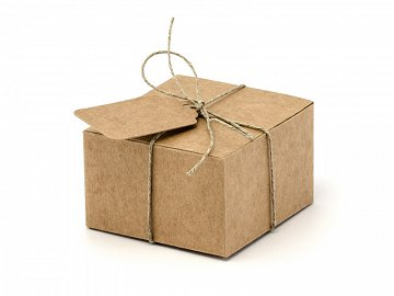 Boxes with tags, 6x5.5x3.5cm (1 pkt / 10 pc.)