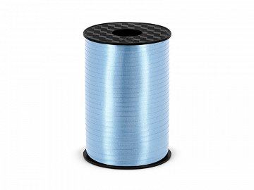 Plastic ribbon, sky-blue, 5mm/225m