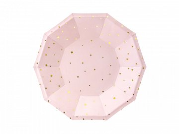 Plates Stars, light pink, 18cm (1 pkt / 6 pc.)